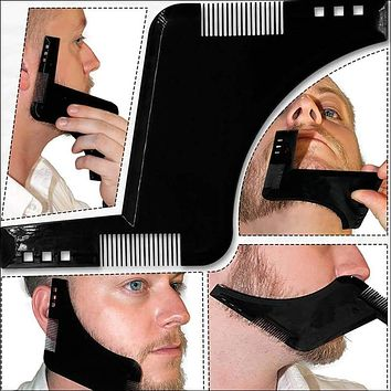 Beard Shaping Styling Template