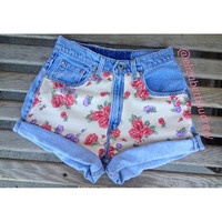 floral shorts by Elizabethaudreyy on Etsy