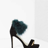 High and Fly Faux Feather Heel