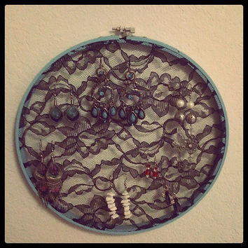 Vintage-inspired Lace Earring Holder- Made to order, so pick your colors