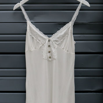 Tried & True Ivory Lace Detail Camisole