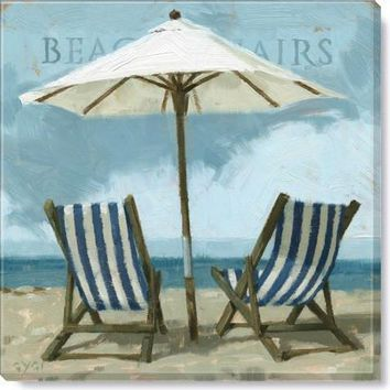 Gallery Wrap on Wood Frame ~ Beach Chairs