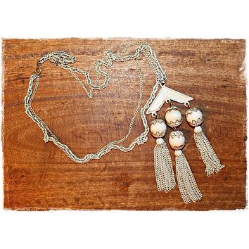 Vintage Chandelier Tassle  Art Deco Necklace