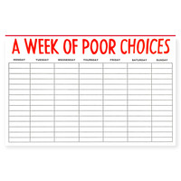 Power & Light Week of Poor Choices Planner Pad