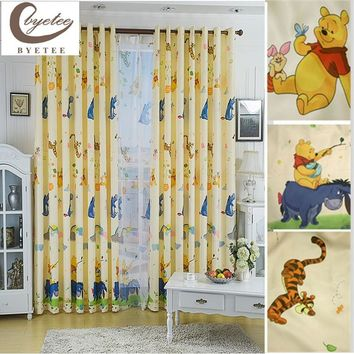 byetee Eco-friendly Child Cartoon Curtain Window Curtain Baby Customize Finished Curtaint Kids Curtain For Children Princess