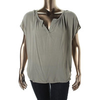Two by Vince Camuto Womens Modal Blend Dolman Sleeves Blouse