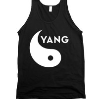 Yin Yang (Part 2)-Unisex Black Tank