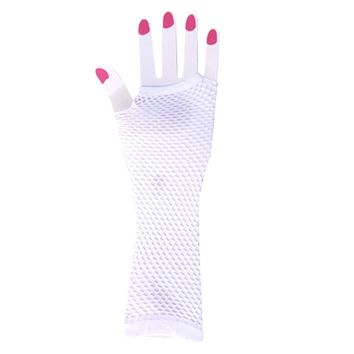 Women's Sexy Lace Gloves Exotic Fishnet Gloves Elbow Length Lace Up Flirting Gloves