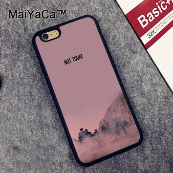 MaiYaCa BTS Not Today Printed Soft Rubber Mobile Phone Cases For iPhone 6 6S Plus 7 7 Plus 5 5S 5C SE 4 4S Cover Skin Shell