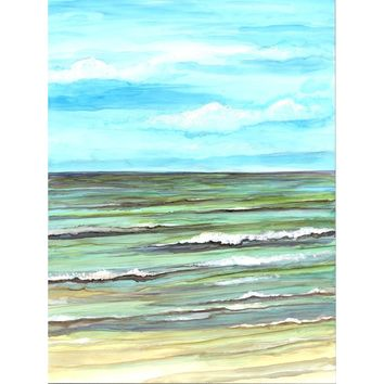 Calm Seas Alcohol Ink Painting