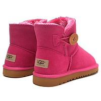 UGG Women Fashion Fur Wool Snow Boots Calfskin Shoes