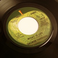 George Harrison, Vinyl 45 RPM Record, What Is Life, Apple Scruffs