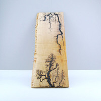 Live Edge Maple Lichtenberg Wood Burning by Tried and True Woodwork, Lightning Strikes, Unique Handmade Wall Art, OOAK, Home & Office Decor