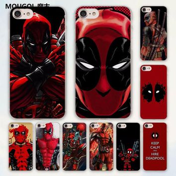 MOUGOL anime Avengers Deadpool series design hard clear Case Cover for Apple iPhone 7 6 6s Plus SE 4s 5 5s 5c Phone Case