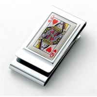 Double Sided Deluxe Money Clips Chrome Deluxe Front Pocket Wallet - Gift Boxed
