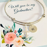 Will you be my Godmother, Godmother Bracelet, Godmother Jewelry, Thank you for being my Godmother, Sterling Silver
