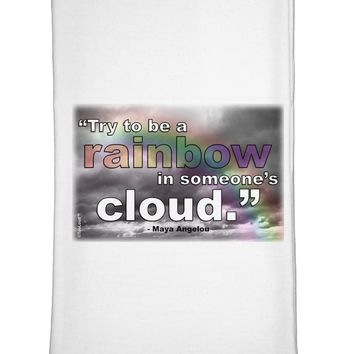 Rainbow in Cloud M Angelou Flour Sack Dish Towel by TooLoud
