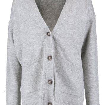 Lila Loose Fit Button Through Cardigan | Boohoo