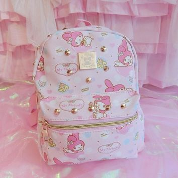 bd4611e801 Cute Hello Kitty Bag My Melody Backpack Cartoon Children School