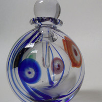 Vintage Art Glass Millefiori Perfume Bottle