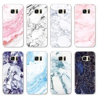 New Fashion Marble Pattern Cases For Samsung Galaxy S8 S3 G530 S4 S5 Mini S6 S7 Edge Plus A3 A5 J5 J7 (2016) (2017) Note Case