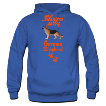 SLEEPS-WITH-GERMAN-SHEPHERD hoodie