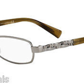 NEW AUTHENTIC GIORGIO ARMANI GA591 COL 6LB SILVER METAL EYEGLASSES GA 591