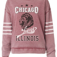 College Chicago Sweat - Jersey Tops - Topshop