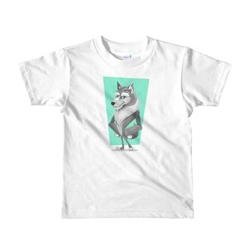 Sassy Wolf Short sleeve kids t-shirt, gift for boy, gift for girl,