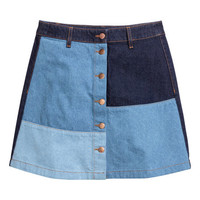 A-line Denim Skirt - from H&M