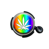 Marijuana Leaf - Rainbow Bicycle Handlebar Bike Bell