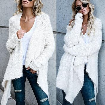 Women Long Sleeve Cardigan Loose Long Sweater Outwear Sweater Top Warm Autumn Winter Women Clothes