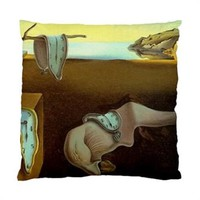 "Salvador Dali Persistence Of Memory Melting Clocks Throw Pillow Cover Case 17"" 1"