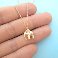 Puffy, Elephant, Necklace, Cute, Elephant, Jewelry, Animal, Simple, Modern, Gift. Jewelry, Lovely, Gift, Necklace, For, Her