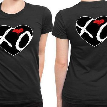 The Weeknd Xo Love Logo 2 Sided Womens T Shirt
