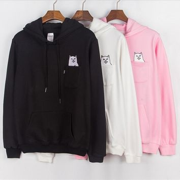 RIPNDIP Men and women with long sleeves and hooded hoodies Sweater