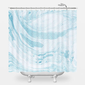 Water Marble Shower Curtain