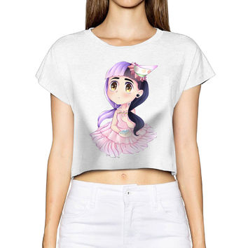 Tumblr Limited Blusa Unicorn 2017 Women Summer Fashion T Shirt Cry Baby Melanie Martinez Bare-midriff Sexy Crop Top T-shirt