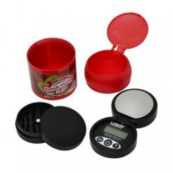 FreshWeigh Digital Scale, Stealth Safe and Acrylic Grinder - Herb Grinders - Smoking Accessories - Grasscity.com