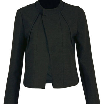 Pleated Blazer in Black