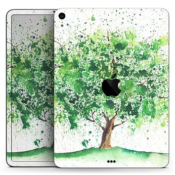 "Splattered Watercolor Tree of Life - Full Body Skin Decal for the Apple iPad Pro 12.9"", 11"", 10.5"", 9.7"", Air or Mini (All Models Available)"