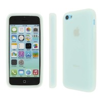 MPERO Collection Flexible Silicone Skin Glow in the Dark Green Case for Apple iPhone 5C