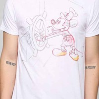 Junk Food Mickey Steamboat Tee- White