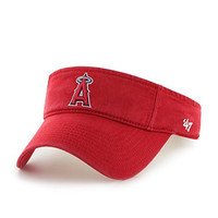 MLB Los Angeles Angels Clean Up Adjustable Visor, One Size, Red