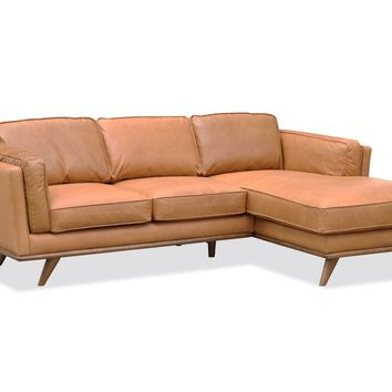 Cypress Leather Sectional RUSSET