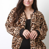 Cheetah Zipper Jacket