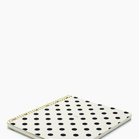 Kate Spade So Well Composed Large Spiral Notebook Black White Dots ONE