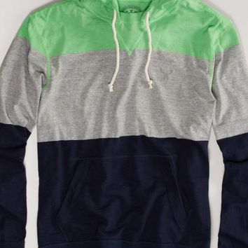 AEO Men's Striped Hoodie Tee (Skin Soothing)