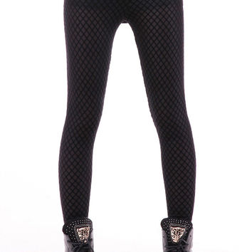 Black Geometric Pattern Leggings
