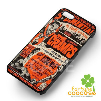 Vintage rock band THE CRAMPS poster -tri for iPhone 6S case, iPhone 5s case, iPhone 6 case, iPhone 4S, Samsung S6 Edge